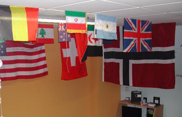 Banderas clase de español para extranjeros